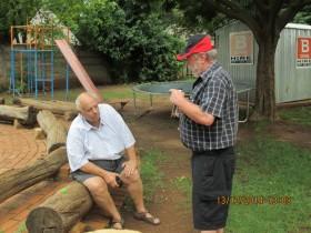 Johan ZS6CAQ chatting to Billy ZS6WPS