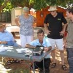 FLTR: Johan ZS6CAQ, Miemie ZR6JL, Dave ZS6AZP, Steven. Kneeling Wally ZS6BCI
