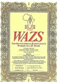 WAZS Awards